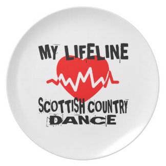 MY LIFE LINA SCOTTISH COUNTRY DANCING DANCE DESIGN PLATE