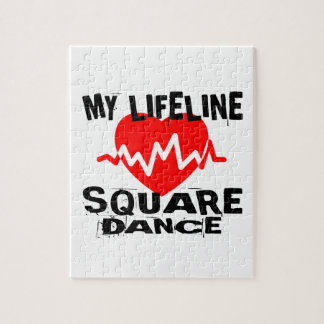MY LIFE LINA SQUARE DANCE DANCE DESIGNS JIGSAW PUZZLE