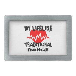 MY LIFE LINA TRADITIONAL DANCE DESIGNS RECTANGULAR BELT BUCKLE