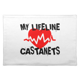 MY LIFE LINE CASTANETS MUSIC DESIGNS PLACEMAT