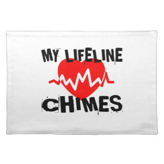 MY LIFE LINE CHIMES MUSIC DESIGNS PLACEMAT