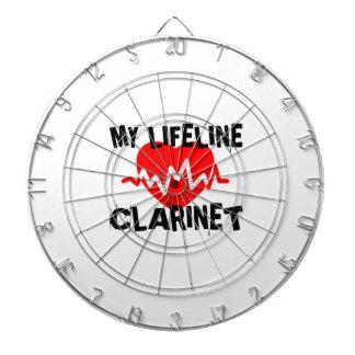 MY LIFE LINE CLARINET MUSIC DESIGNS DARTBOARD