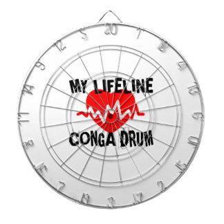 MY LIFE LINE CONGA DRUM MUSIC DESIGNS DARTBOARD