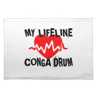 MY LIFE LINE CONGA DRUM MUSIC DESIGNS PLACEMAT