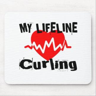 My Life Line Curling Sports Designs Mouse Pad
