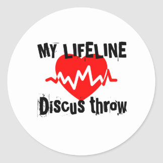 My Life Line Discus throw Sports Designs Classic Round Sticker