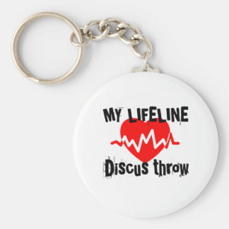 My Life Line Discus throw Sports Designs Key Ring