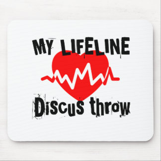 My Life Line Discus throw Sports Designs Mouse Pad
