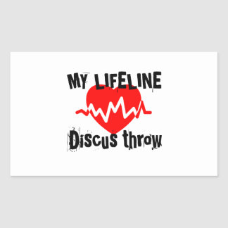 My Life Line Discus throw Sports Designs Rectangular Sticker