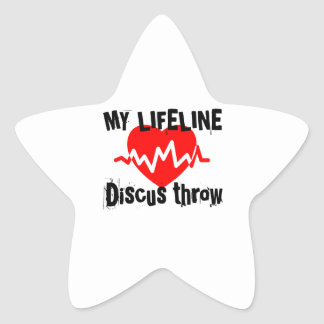 My Life Line Discus throw Sports Designs Star Sticker