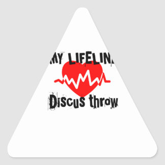 My Life Line Discus throw Sports Designs Triangle Sticker