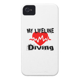 My Life Line Diving Sports Designs iPhone 4 Case-Mate Case