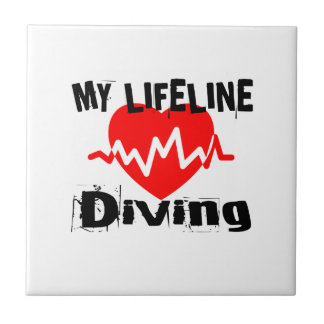 My Life Line Diving Sports Designs Tile