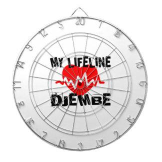 MY LIFE LINE DJEMBE MUSIC DESIGNS DARTBOARD