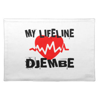 MY LIFE LINE DJEMBE MUSIC DESIGNS PLACEMAT