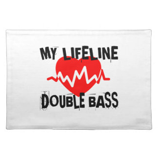 MY LIFE LINE DOUBLE BASS MUSIC DESIGNS PLACEMAT