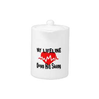 My Life Line Down Hill Skiing Sports Designs