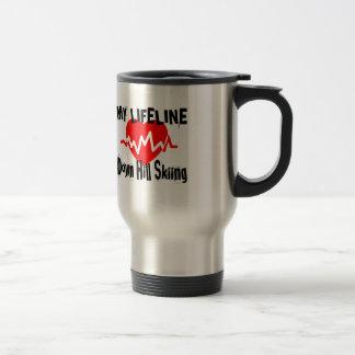 My Life Line Down Hill Skiing Sports Designs Travel Mug