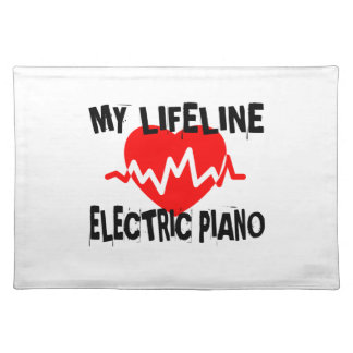 MY LIFE LINE ELECTRIC PIANO MUSIC DESIGNS PLACEMAT