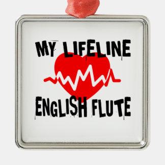 MY LIFE LINE ENGLISH FLUTE MUSIC DESIGNS METAL ORNAMENT