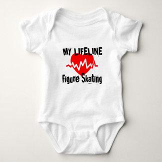 My Life Line Figure Skating Sports Designs Baby Bodysuit