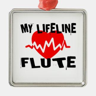 MY LIFE LINE FLUTE MUSIC DESIGNS METAL ORNAMENT