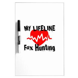 My Life Line Fox Hunting Sports Designs Dry Erase Board