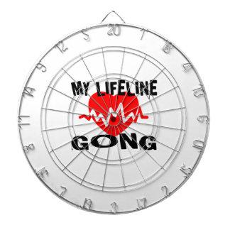 MY LIFE LINE GONG MUSIC DESIGNS DARTBOARD