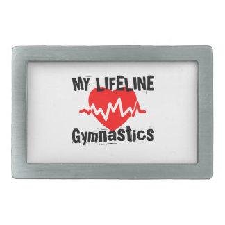 My Life Line Gymnastics Sports Designs Rectangular Belt Buckle