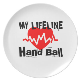 My Life Line Hand Ball Sports Designs Plate