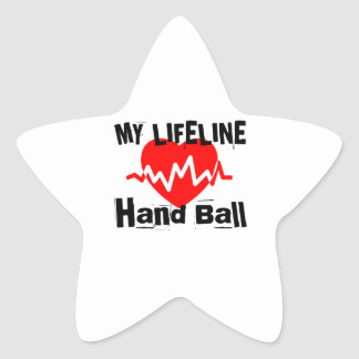My Life Line Hand Ball Sports Designs Star Sticker