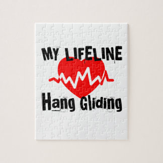 My Life Line Hang Gliding Sports Designs Jigsaw Puzzle