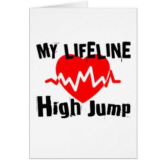 My Life Line High Jump Sports Designs Card