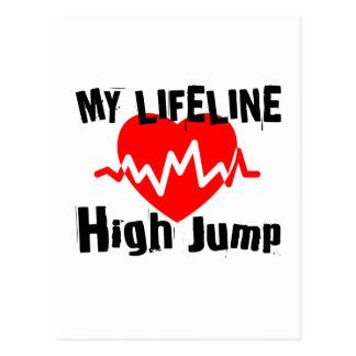 My Life Line High Jump Sports Designs Postcard