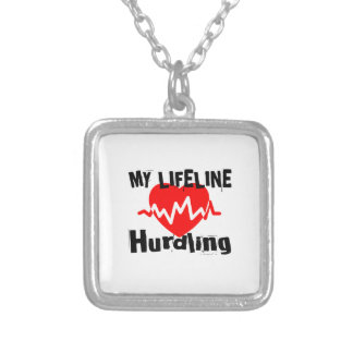 My Life Line Hurdling Sports Designs Silver Plated Necklace