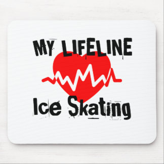 My Life Line Ice Skating Sports Designs Mouse Pad