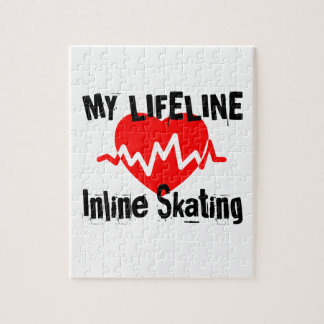 My Life Line Inline Skating Sports Designs Jigsaw Puzzle