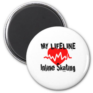 My Life Line Inline Skating Sports Designs Magnet