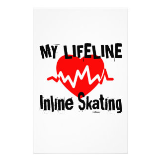 My Life Line Inline Skating Sports Designs Stationery