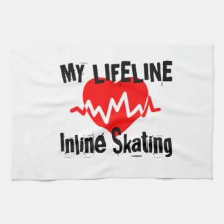 My Life Line Inline Skating Sports Designs Tea Towel