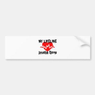 My Life Line Javelin throw Sports Designs Bumper Sticker