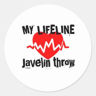 My Life Line Javelin throw Sports Designs Classic Round Sticker