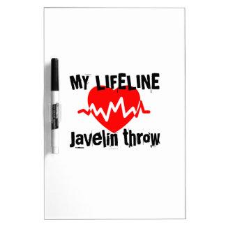 My Life Line Javelin throw Sports Designs Dry Erase Board