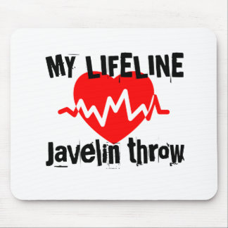 My Life Line Javelin throw Sports Designs Mouse Pad
