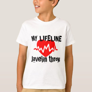 My Life Line Javelin throw Sports Designs T-Shirt
