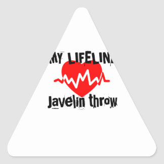 My Life Line Javelin throw Sports Designs Triangle Sticker