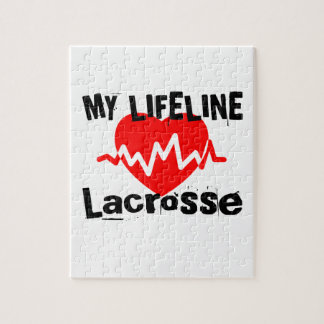 My Life Line Lacrosse Sports Designs Jigsaw Puzzle