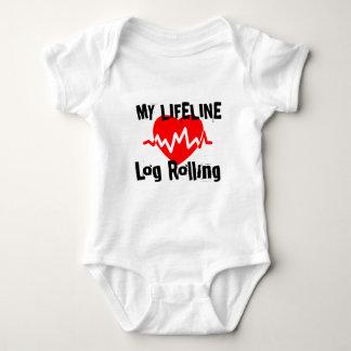 My Life Line Log Rolling Sports Designs Baby Bodysuit