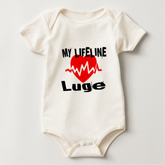 My Life Line Luge Sports Designs Baby Bodysuit