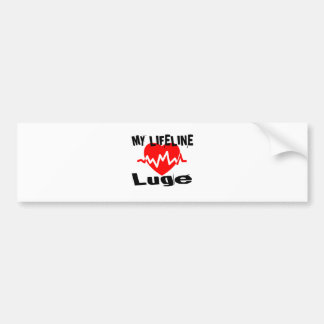 My Life Line Luge Sports Designs Bumper Sticker